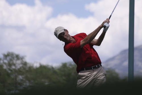 Garrit Johnson | courtesy photo  John Wright competes in the Utah State Amateur Round of 16 matches at Ogden Golf and Country.