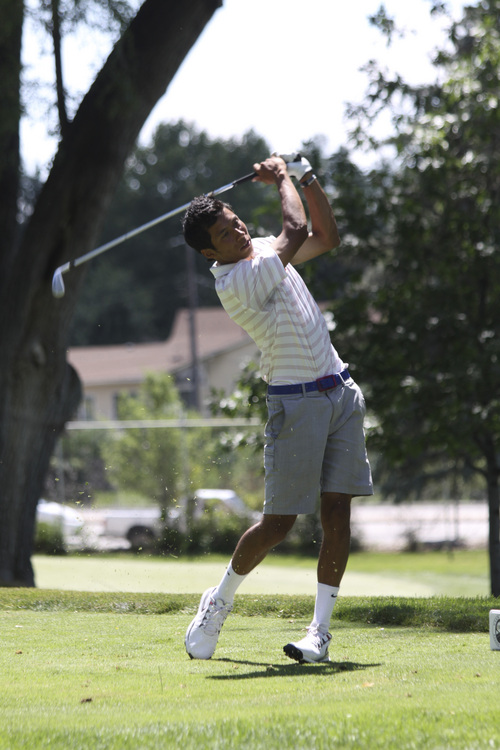 Garrit Johnson | courtesy photo  Kai Ruiz competes in the Utah State Amateur Round of 16 matches at Ogden Golf and Country.