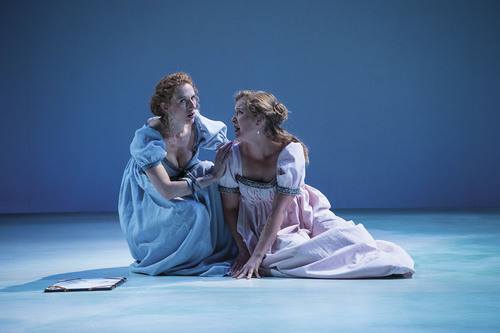 "Cassandra Bissell (left) as Elinor Dashwood and Eva Balistrieri as Marianne Dashwood in the Utah Shakespeare FestivalÌs 2014 production of ""Sense and Sensibility."" Courtesy  