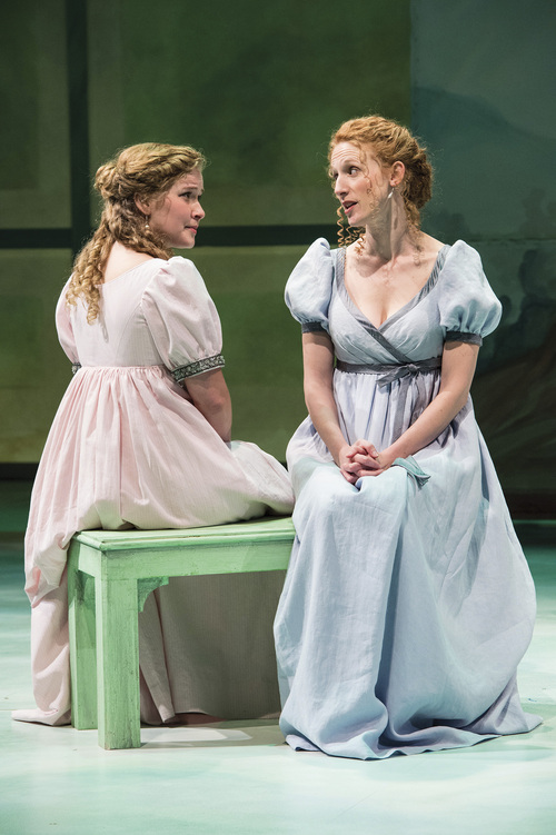 "Karl Hugh | Utah Shakespeare Festival 2014  Eva Balistrieri (left) as Marianne Dashwood and Cassandra Bissell as Elinor Dashwood in the Utah Shakespeare Festival's 2014 production of ""Sense and Sensibility."""