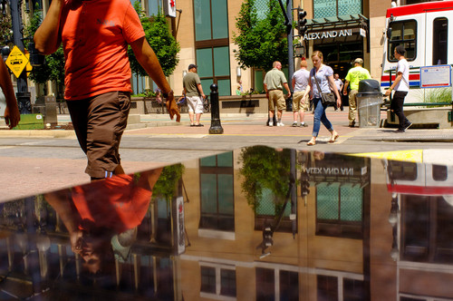Trent Nelson  |  The Salt Lake Tribune Retail sales in downtown Salt Lake City hit an all-time high of $800 million in 2013, thanks in part to stepped-up business activity at the City Creek Center near Temple Square.