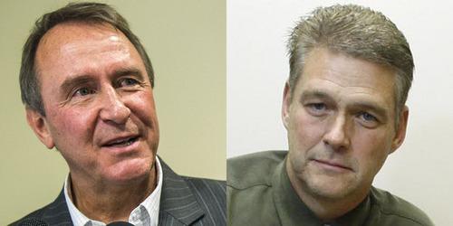 Mark Shurtleff, left, and Kirk Torgensen.