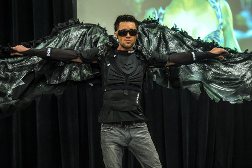 Chris Detrick  |  The Salt Lake Tribune A model shows off sunglasses during the Standard Optical eyewear fashion show during the KUTV 2 Your Health Expo at the South Towne Exposition Center on Saturday.