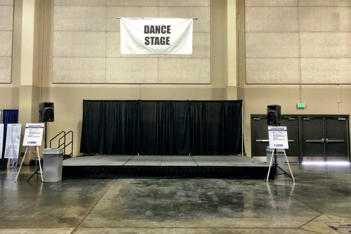 Chris Detrick  |  The Salt Lake Tribune The dance stage during the KUTV 2 Your Health Expo at the South Towne Exposition Center Saturday July 12, 2014.