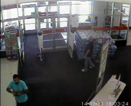 Courtesy West Valley Police Department Two shoplifters are being sought by police after allegedly firing shots into the ceiling of a West Valley City Kmart Friday afternoon. Anyone who has information regarding these men should contact the West Valley City Police Department.