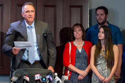 Trent Nelson  |  The Salt Lake Tribune Former Utah Attorney General Mark Shurtleff addresses his arrest  during a press conference in Salt Lake City, Tuesday July 15, 2014.