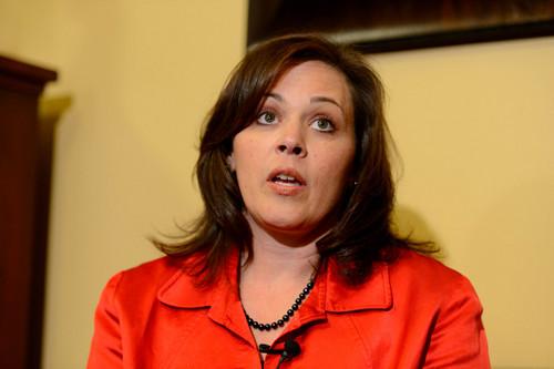 Trent Nelson  |  The Salt Lake Tribune Utah Speaker Becky Lockhart speaks about Attorney General John Swallow's resignation, Thursday November 21, 2013 in Salt Lake City.