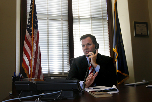 Scott Sommerdorf   |   Tribune file photo  Utah Attorney General John Swallow in his office on the day it was announced the U.S. Department of Justice will not prosecute him, Thursday, September 12, 2013.