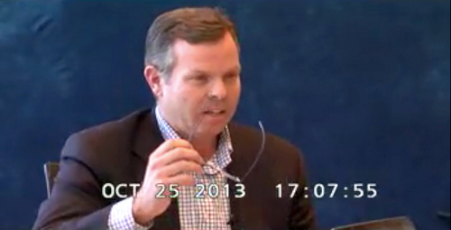 John Swallow explains why he didn't disclose P-Solutions and SSV Management,  during his video taped deposition, October 25, 2013.