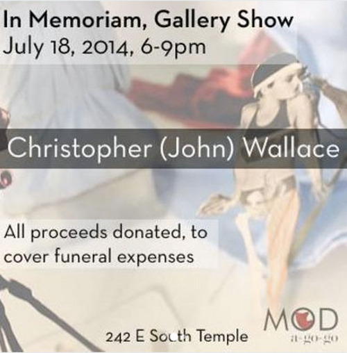 Courtesy photo John Christopher Wallace, 30, of Salt Lake City, died Saturday when he threw himself into a three-story burning effigy at the Element 11 festival in Grantsville. A gallery show is being held July 18 to raise funds for his funeral.