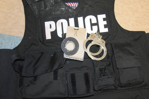 (Investigation photos)  This police vest was worn by one of the officers who entered Matthew David Stewart's house in Ogden on January 4, 2012.