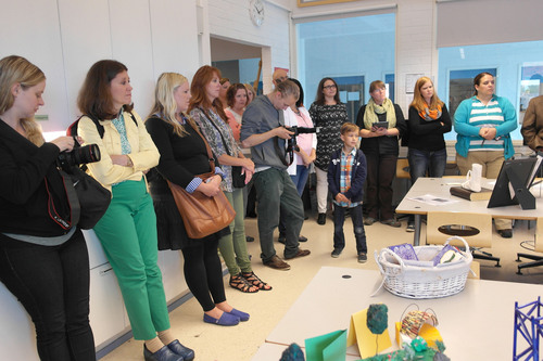 Merinda Davis | Courtesy photo  Utah teachers visit Aleksis Kevi School in Siuntio, Finland. A group of Utah teachers recently toured Finnish schools and discussed cultural and educational philosophies that help improve schools.