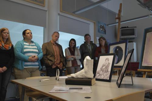 Courtesy  |  Merinda Davis Teachers visit an art classroom in Finland.