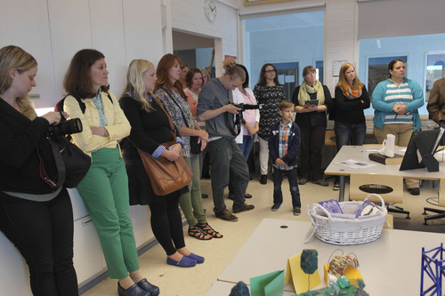Courtesy  |  Merinda Davis Teachers visit an art classroom in Finland.