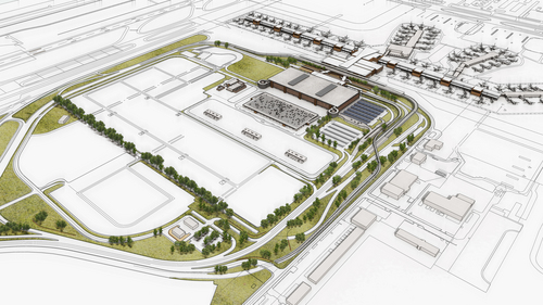 A rendering of the $1.8 billion terminal redevelopment project at the Salt Lake City International Airport. Construction on the project begins Friday. Courtesy image