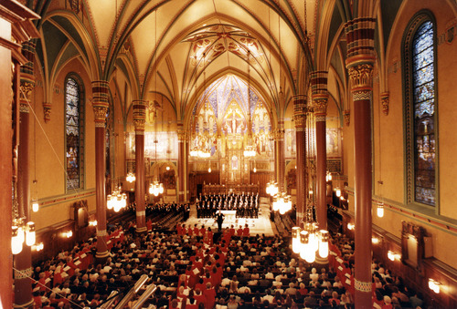 Steve Griffin  |  The Salt Lake Tribune  The Cathedral of the Madeleine May 3, 1993.