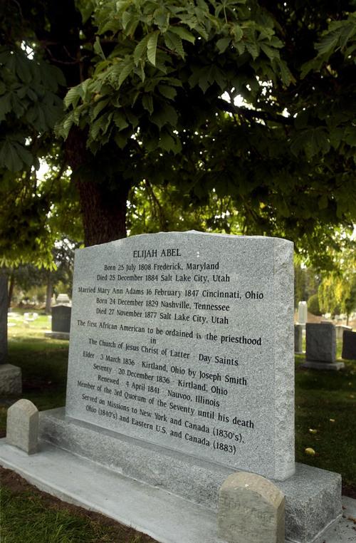 Headstone of Elijah Abel. Photo by Leah Hogsten 09/25/2002