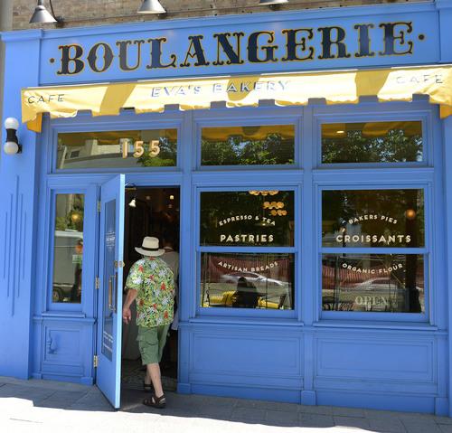Leah Hogsten  |  The Salt Lake Tribune Eva's Bakery Boulangerie offers pastries, croissants, pies, sandwiches and artisan breads,  July 16, 2014.