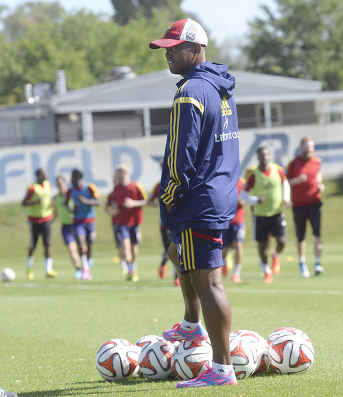 Al Hartmann  |  The Salt Lake Tribune  Andy Williams coaches Real Salt Lake players at practice Tuesday July 22.  He's made a transition from playing days to scouting in the front office to coaching.   Williams, now an assistant coach, remains the lone RSL original still associated with the club.