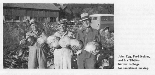 Shortly after settling the little town of Providence on the south end of Cache Valley, Swiss and German pioneers had a sauerkraut dinner. The tradition continues today. Courtesy Photo