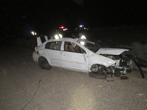Courtesy     Utah Highway Patrol Tomasi Toutai, 62, of California died in a rollover crash in Iron County Thursday night.