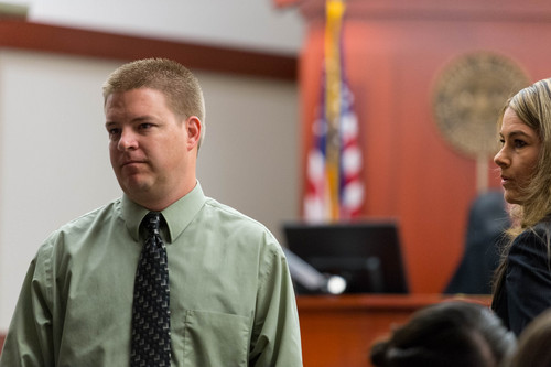 Trent Nelson     The Salt Lake Tribune Former West Valley City Detective Shaun Cowley makes his initial court appearance, charged with manslaughter in the death of Danielle Willard, at the Matheson Courthouse in Salt Lake City, Tuesday July 8, 2014.