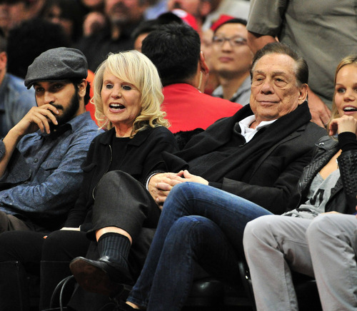 April 27, 2014 - Los Angeles, CA, U.S - February 13, 2013: Owner Donald T. Sterling and Wife Shelly of the Clippers in NBA game action as the The Los Angeles Clippers host the Houston Rockets in an NBA game at Staples Center in Los Angeles, California John Green/CSM (Cal Sport Media via AP Images)