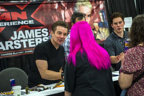 Chris Detrick  |  The Salt Lake Tribune James Marsters greets fans at Salt Lake Comic Con FanXperience at the Salt Palace Convention Center Saturday April 19, 2014.