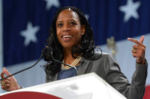 Trent Nelson  |  Tribune file photo Former Saratoga Springs Mayor Mia Love is running on a platorm of fiscal conservatism.
