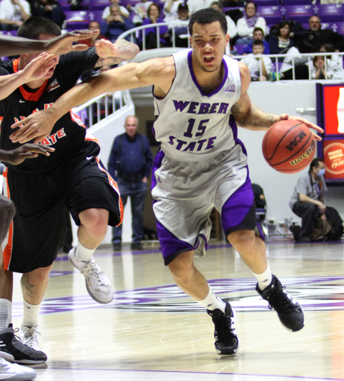 Rick Egan  |  Salt Lake Tribune Weber State's Davion Berry started all 68 games during his two seasons with the Wildcats.