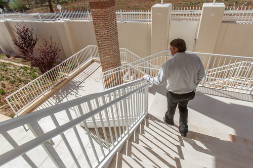 Trent Nelson     The Salt Lake Tribune Willie Jessop on the steps of a home intended for the family of Warren Jeffs in Hildale, Friday April 26, 2013. The property was purchased by Willie Jessop who spent the day allowing former followers to see the inside of a compound they had previously not been allowed to enter.