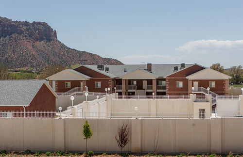 Trent Nelson     The Salt Lake Tribune A large home intended for the family of Warren Jeffs in Hildale, Friday April 26, 2013. The property was purchased by Willie Jessop who spent the day allowing former followers to see the inside of a compound they had previously not been allowed to enter.