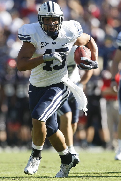 Harvey Unga  rushed for 81 yards on 26 carries for BYU against San Diego State.  Photo by Chris Detrick  |  The Salt Lake Tribune