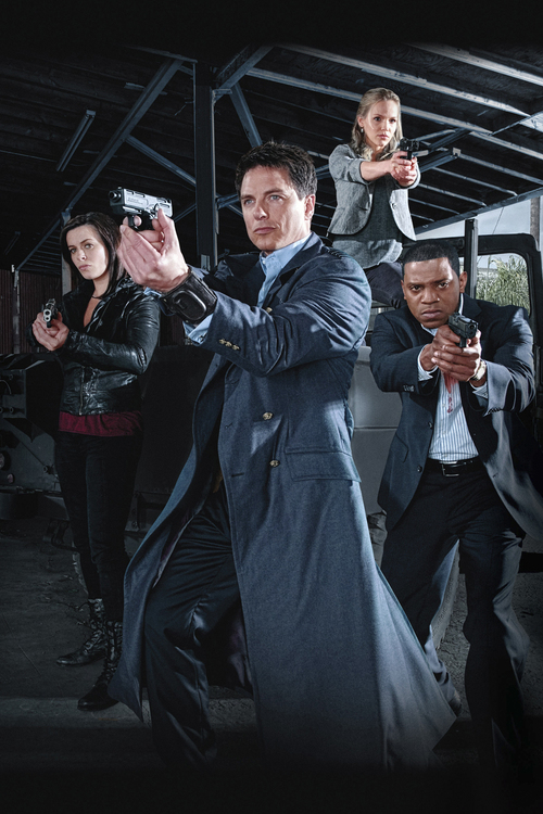 Courtesy Starz John Barrowman as Captain Jack Harkness in ìTorchwood: Miracle Day.î