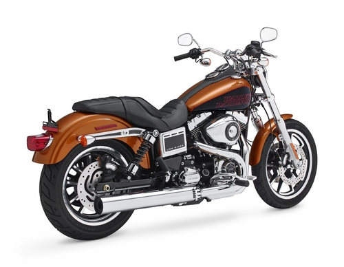 """This product image provided by Harley-Davidson shows a 2014 FXDL Dyna Low Rider motorcycle. Harley-Davidson is recalling more than 3,300 FXDL Dyna Low Rider bikes because engine vibration can turn the switches from """"run"""" to """"accessory."""" The recall covers motorcycles from the 2014 ½ model year. (AP Photo/Harley-Davidson)"""