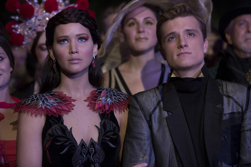 Katniss Everdeen (Jennifer Lawrence) and Peeta Mellark (Josh Hutcherson) in 'The Hunger Games: Catching Fire' out in theaters Nov. 22, 2013. Murray Close | Courtesy Lionsgate Films