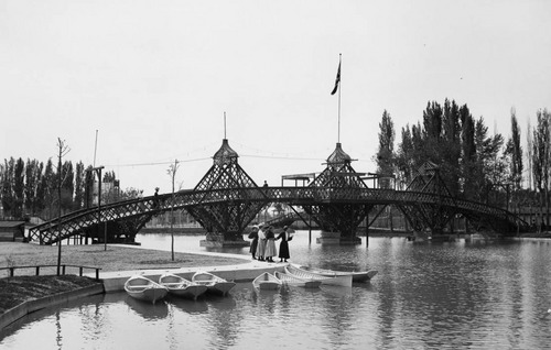 photo courtesy Utah State Historical Society  A view of the Wandamere Resort bridge, May 17, 1907.