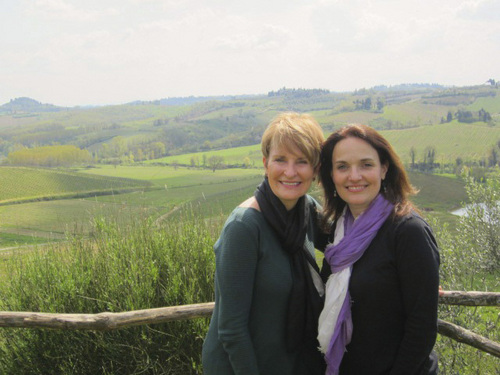 (Courtesy photo)  Former Salt Lake City residents Lisa Condie, left, and Sarah Walton, right, have formed a tour company in Italy, where Condie now lives. She is being celebrated by Huffington Post and the Today show as one of ì50 Over 50,î people who have reinvented their lives after age 50.