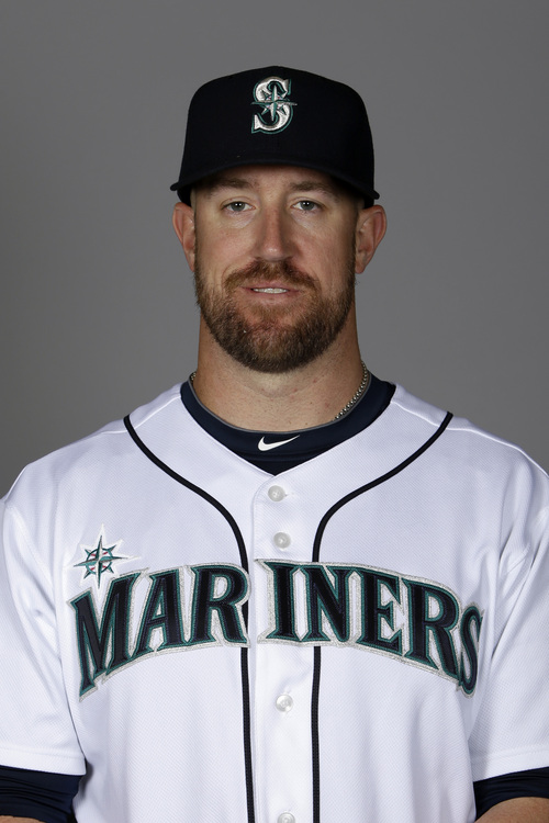 This is a 2014 photo of John Buck of the Seattle Mariners baseball team. This image reflects the Mariners active roster as of Thursday, Feb. 20, 2014, when this image was taken. (AP Photo/Tony Gutierrez)