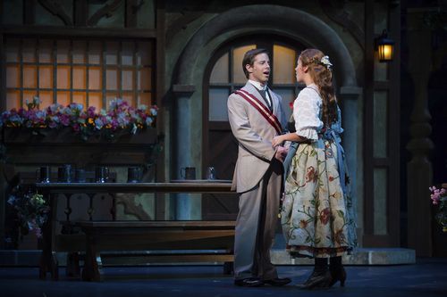 """Andrew Bidlack as Prince Karl Franz and Emma-Grace Dunbar as Kathie in """"The Student Prince."""" Courtesy Utah Festival Opera & Musical Theater"""