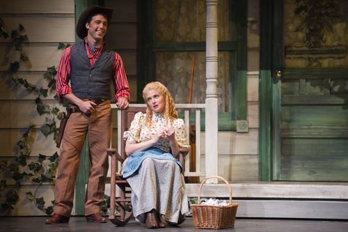 Courtesy Photo  Wes Mason as Curly and Leah Edwards as Laurey.