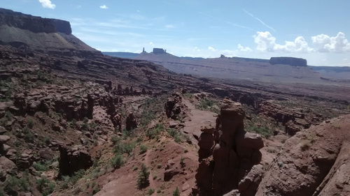 Joe Auer | Courtesy   This photo is of The Cobra near Moab on Friday, after the capstone had fallen off the top. Climbers and officials think it likely collapsed during a storm.