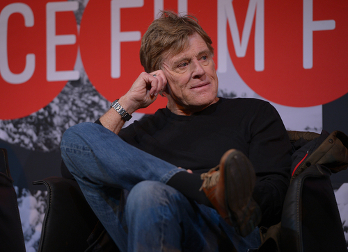 Scott Sommerdorf   |  The Salt Lake Tribune Founder and President of Sundance Institute Robert Redford, listens to a question during the opening press conference will take place in about an hour at the Egyptian Theater in Park City, Thursday, January 16, 2014.