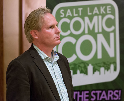 Trent Nelson  |  The Salt Lake Tribune Dan Farr of Salt Lake Comic Con, at a press conference in Salt Lake City on  Wednesday.