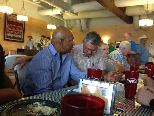 Matt Canham  |  The Salt Lake Tribune Rep. Elijah Cummings, D-Md., hears about San Juan County Commission Chairman Bruce Adams' frustrations with federal land management during his tour of Rep. Jason Chaffetz's congressional district.