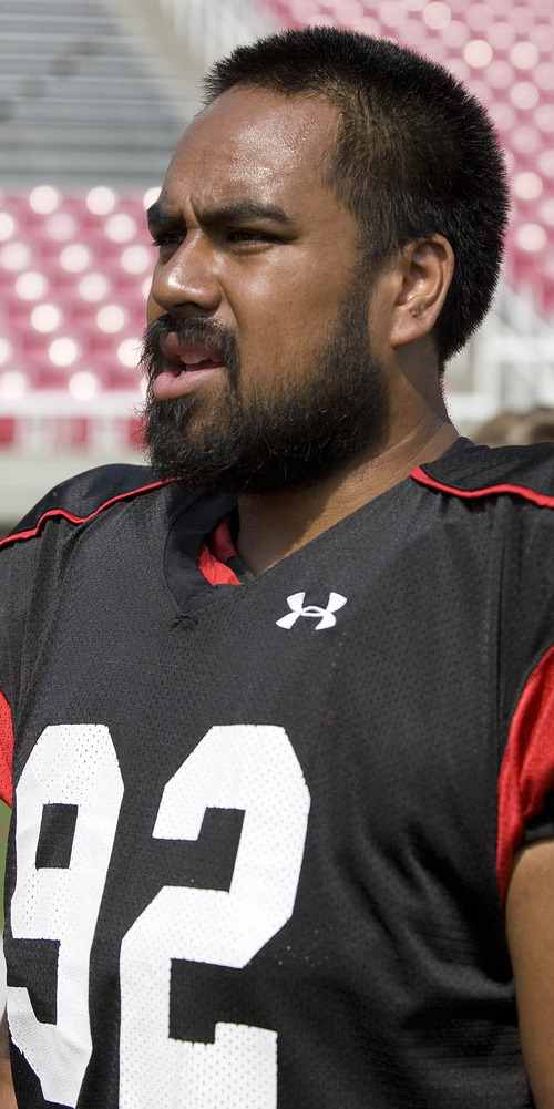 Paul Fraughton | The Salt Lake Tribune Star Lotulelei after Tuesday's scrimmage.