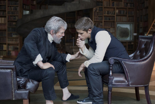 """A young man (Brenton Thwaites, right) learns he is to receive his society's collective knowledge from The Giver (Jeff Bridges), in the drama """"The Giver,"""" opening nationwide on Aug. 15. Courtesy The Weinstein Company"""