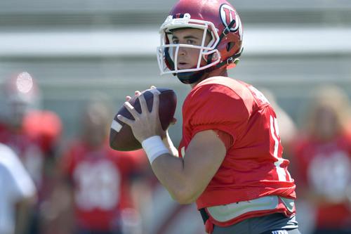 Chris Detrick     The Salt Lake Tribune Utah Utes quarterback Conner Manning (17) during a scrimmage at Rice-Eccles Stadium Saturday August 16, 2014.