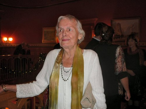 Courtesy photo Edie Roberson is shown here in 2011 before receiving the Governor's Mansion Artist Award from the state of Utah. Roberson died Thursday, Aug. 14, 2014, in Salt Lake City at the age of 85.