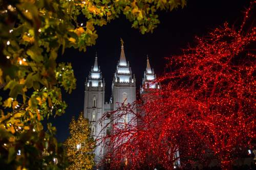 Chris Detrick  |   Tribune file photo The Christmas lights on Temple Square Friday November 29, 2013.
